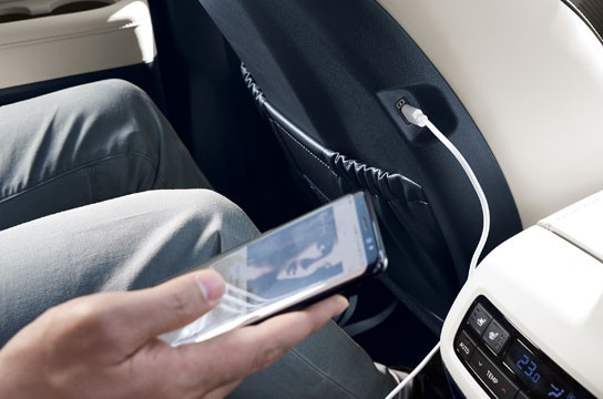USB ports for second- and third-row passengers
